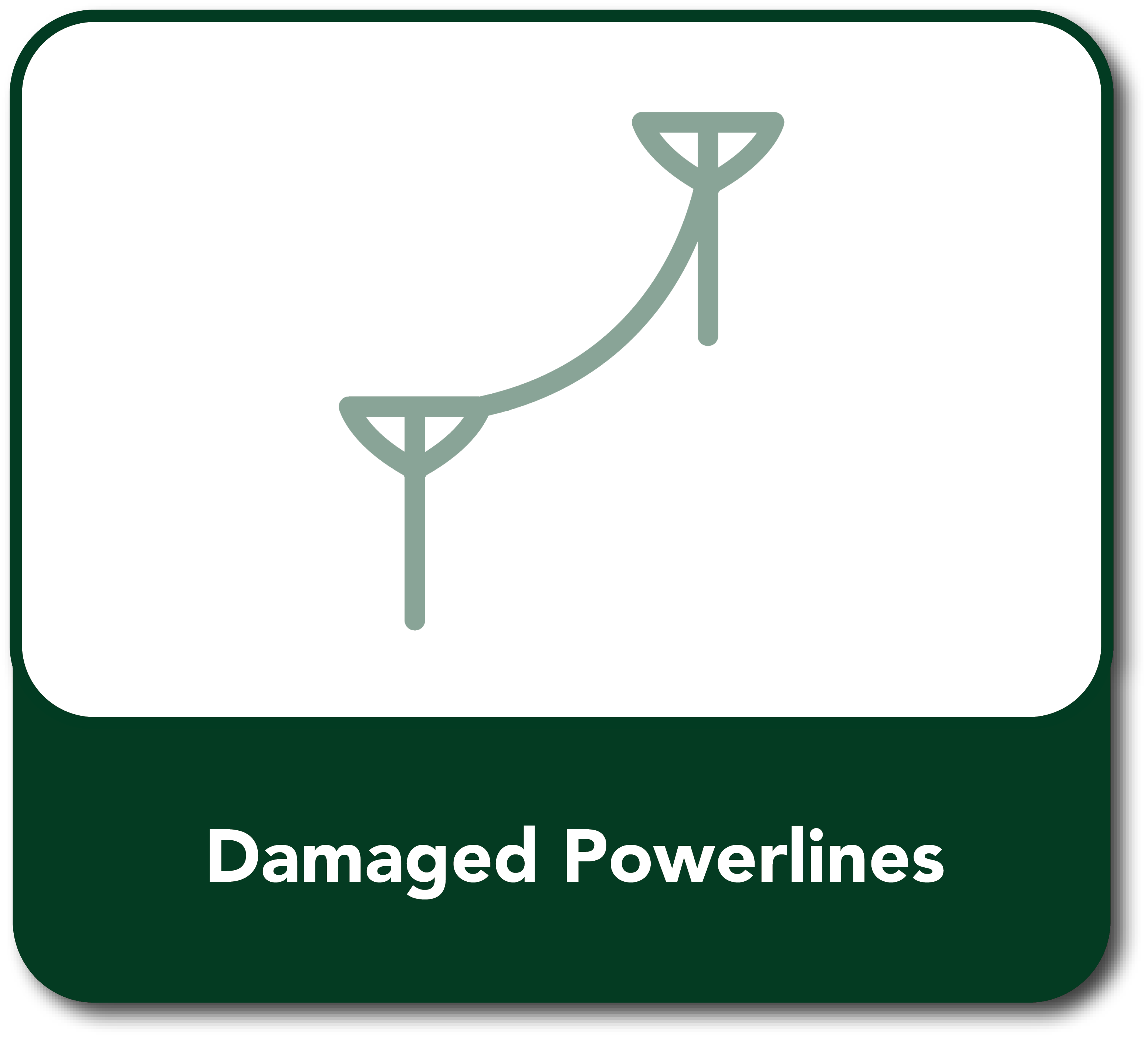 Damaged Powerlines Button hover