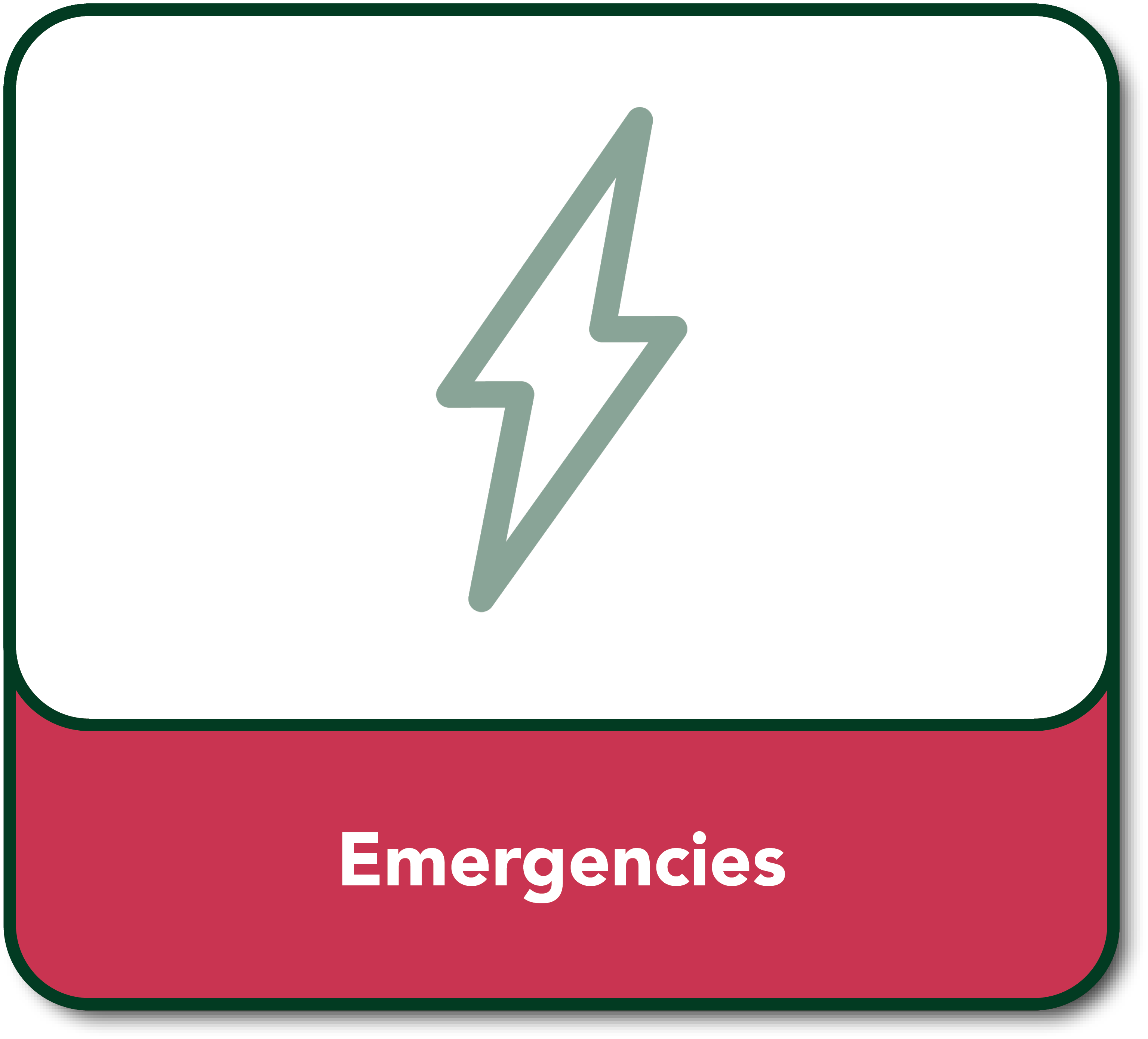 Emergency Button hover