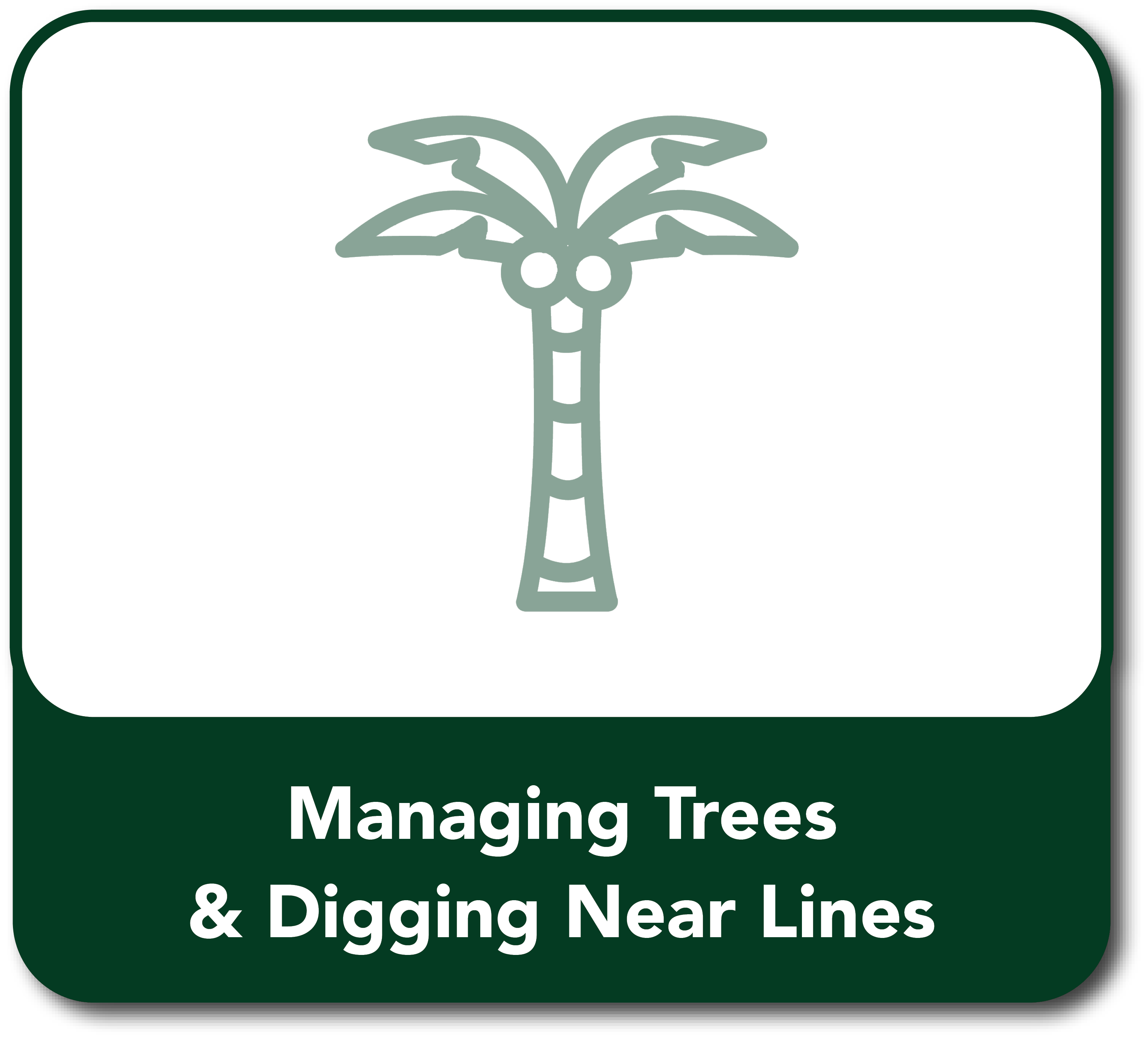 Managing trees Button hover
