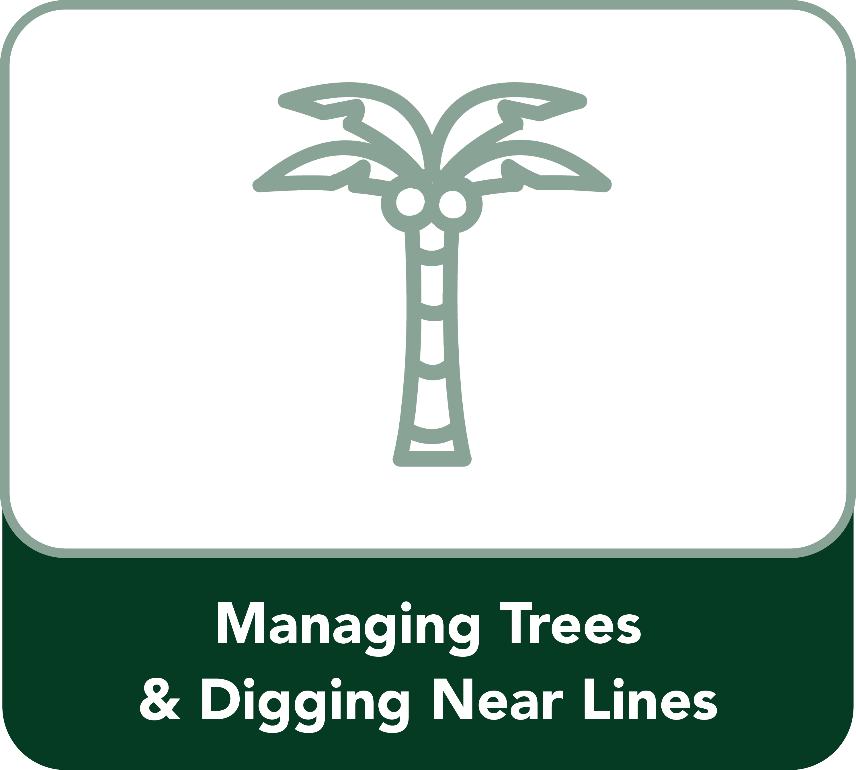 Managing trees Button
